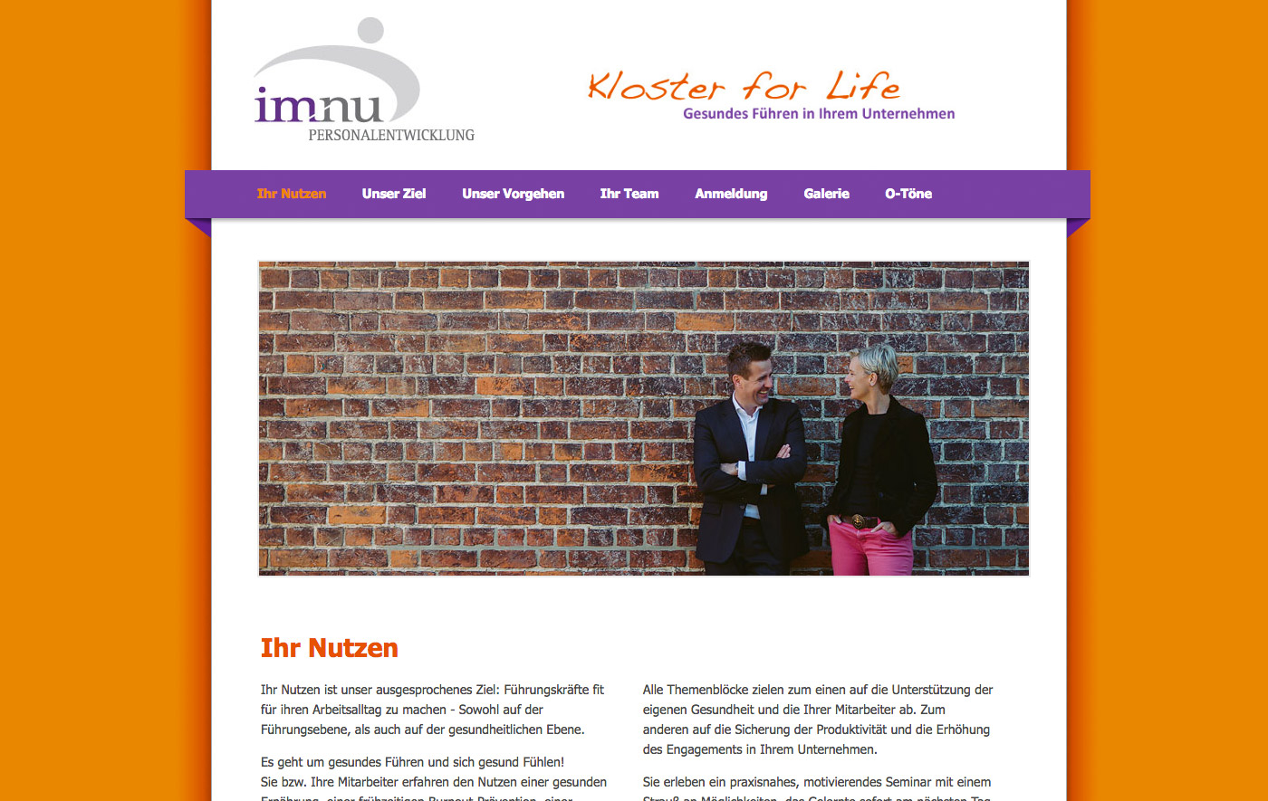 imnu - Kloster for Life